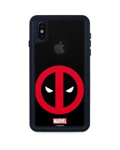 Deadpool Logo Black iPhone XS Waterproof Case