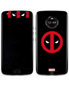 Deadpool Logo Black Moto X4 Skin