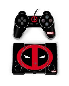 Deadpool Logo Black PlayStation Classic Bundle Skin
