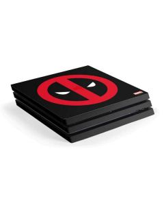 Deadpool Logo Black PS4 Pro Console Skin