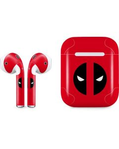 Deadpool Logo Red Apple AirPods Skin