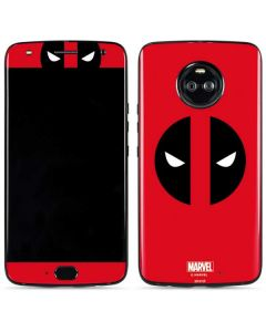 Deadpool Logo Red Moto X4 Skin
