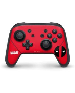 Deadpool Logo Red Nintendo Switch Pro Controller Skin