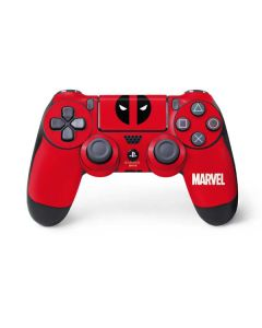 Deadpool Logo Red PS4 Controller Skin