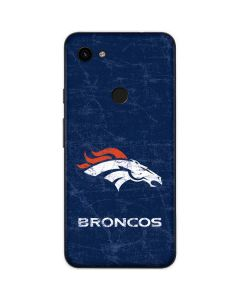 Denver Broncos - Distressed Google Pixel 3a Skin