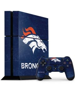 Denver Broncos - Distressed PS4 Console and Controller Bundle Skin