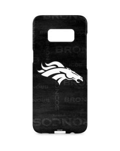 Denver Broncos Black & White Galaxy S8 Plus Lite Case