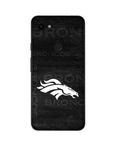 Denver Broncos Black & White Google Pixel 3a Skin