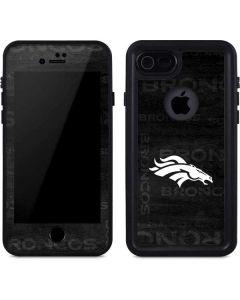 Denver Broncos Black & White iPhone 7 Waterproof Case