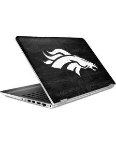 Denver Broncos Black & White HP Pavilion Skin