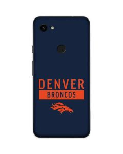 Denver Broncos Blue Performance Series Google Pixel 3a Skin