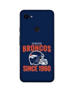 Denver Broncos Helmet Google Pixel 3a Skin