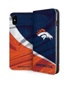 Denver Broncos iPhone XS Folio Case