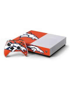 Denver Broncos Large Logo Xbox One S Console and Controller Bundle Skin