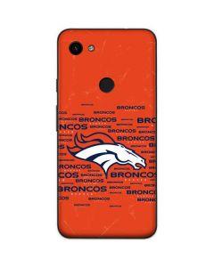 Denver Broncos Orange Blast Google Pixel 3a Skin