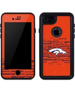 Denver Broncos Orange Blast iPhone 7 Waterproof Case