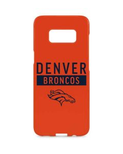 Denver Broncos Orange Performance Series Galaxy S8 Plus Lite Case