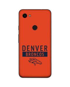 Denver Broncos Orange Performance Series Google Pixel 3a Skin