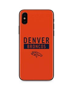 Denver Broncos Orange Performance Series iPhone X Skin