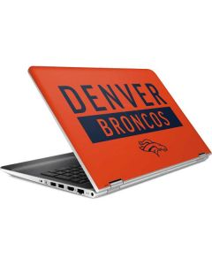 Denver Broncos Orange Performance Series HP Pavilion Skin