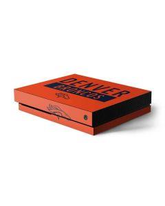 Denver Broncos Orange Performance Series Xbox One X Console Skin