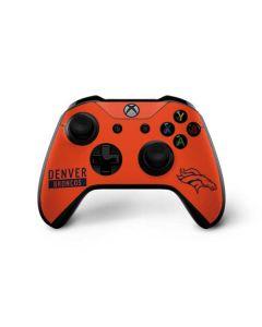 Denver Broncos Orange Performance Series Xbox One X Controller Skin