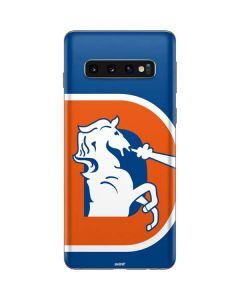 Denver Broncos Retro Logo Galaxy S10 Skin