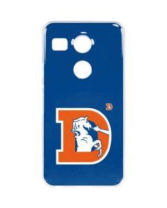 Denver Broncos Retro Logo Google Nexus 5X Clear Case