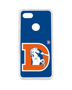 Denver Broncos Retro Logo Google Pixel 3 XL Clear Case