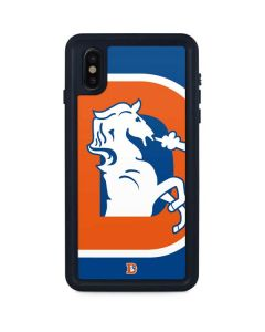Denver Broncos Retro Logo iPhone XS Max Waterproof Case