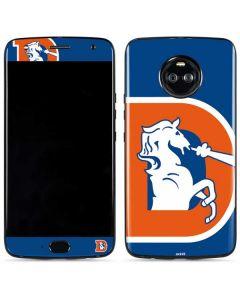 Denver Broncos Retro Logo Moto X4 Skin