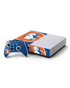 Denver Broncos Retro Logo Xbox One S Console and Controller Bundle Skin