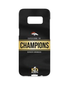 Denver Broncos Super Bowl 50 Champions Black Galaxy S8 Plus Lite Case