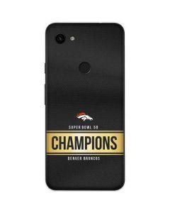 Denver Broncos Super Bowl 50 Champions Black Google Pixel 3a Skin