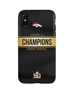 Denver Broncos Super Bowl 50 Champions Black iPhone X Pro Case