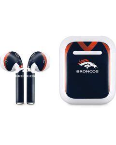 Denver Broncos Team Jersey Apple AirPods Skin