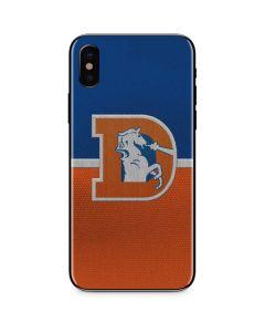 Denver Broncos Vintage iPhone XS Max Skin