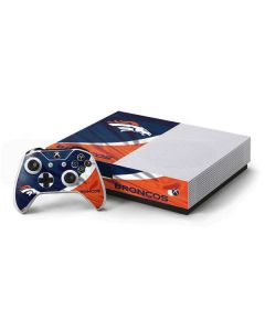 Denver Broncos Xbox One S Console and Controller Bundle Skin