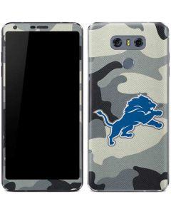 Detriot Lions Camo LG G6 Skin