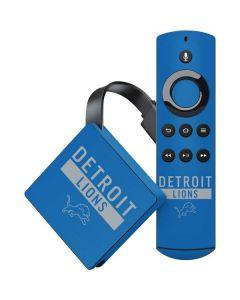 Detroit Lions Blue Performance Series Amazon Fire TV Skin