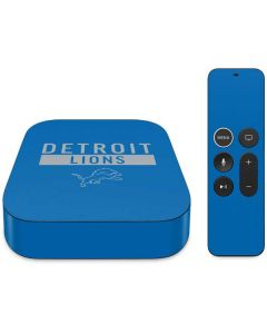 Detroit Lions Blue Performance Series Apple TV Skin
