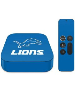 Detroit Lions Distressed Apple TV Skin