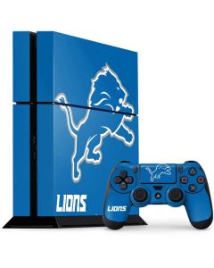 Detroit Lions Distressed PS4 Console and Controller Bundle Skin