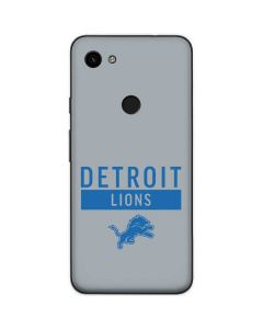 Detroit Lions Grey Performance Series Google Pixel 3a Skin