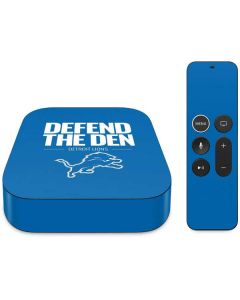 Detroit Lions Team Motto Apple TV Skin