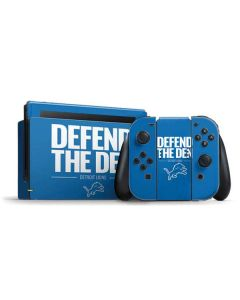 Detroit Lions Team Motto Nintendo Switch Bundle Skin