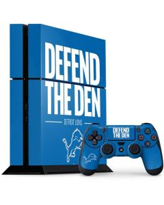 Detroit Lions Team Motto PS4 Console and Controller Bundle Skin