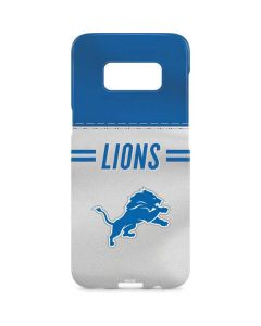 Detroit Lions White Striped Galaxy S8 Plus Lite Case