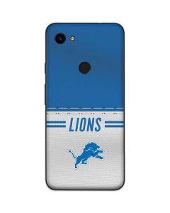 Detroit Lions White Striped Google Pixel 3a Skin
