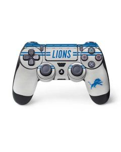 Detroit Lions White Striped PS4 Controller Skin